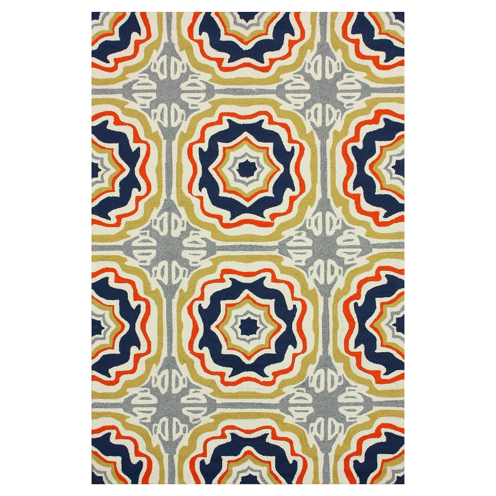 nuLOOM Hand Hooked Sevilla Tiles Indoor/ Outdoor Area Rug (5' x 8'), Multi-Colored