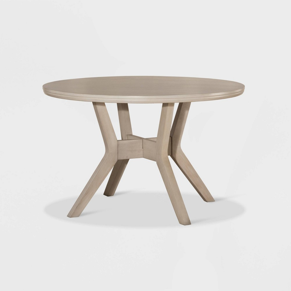 Elder Park Round Dining Table White Sands - Hillsdale Furniture