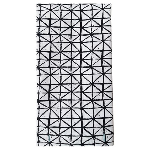 Printed Shower Curtain Triangles Black/White - Project 62™ - image 1 of 1