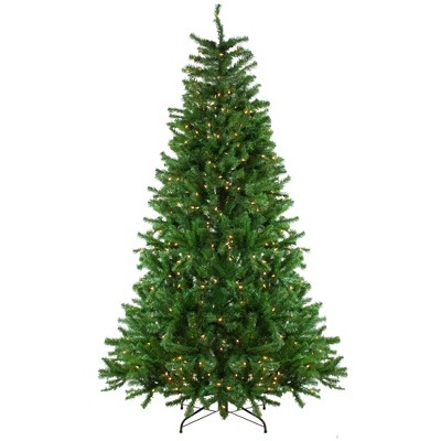 Northlight 7.5' Prelit Artificial Christmas Tree Slim Waterton Spruce - Clear Lights