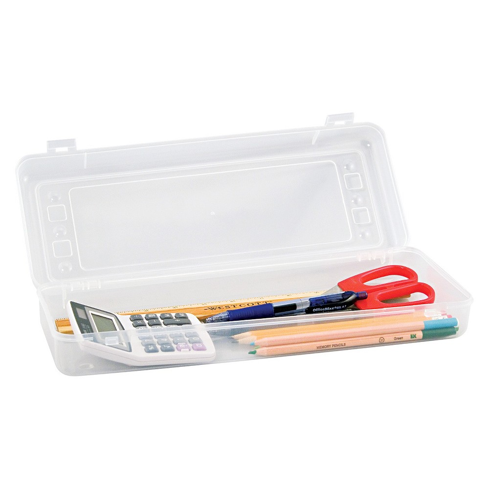 Image of Innovative Storage Pencil Case - Clear