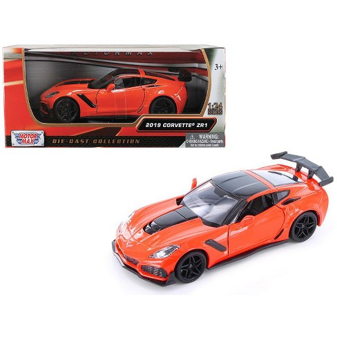 2019 Chevrolet Corvette ZR1 Orange with Black Accents 1/24 Diecast Model Car by Motormax - image 1 of 3
