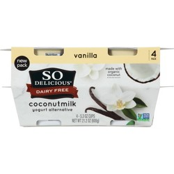 So Delicious Dairy Free Vanilla Coconut Milk Yogurt Alternative - 4pk/5.3oz cups
