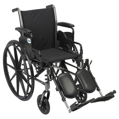"""Drive Medical Cruiser III Light Weight Wheelchair with Flip Back Removable Arms, Desk Arms, Elevating Leg Rests, 20"""" Seat - image 1 of 1"""