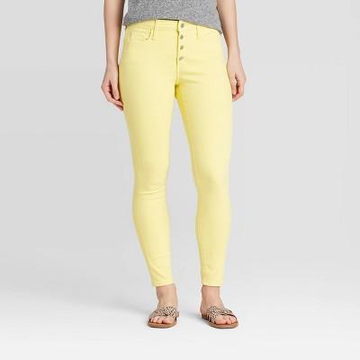 Women's High-Rise Skinny Ankle Jeans - Universal Thread™ Lemon Grass