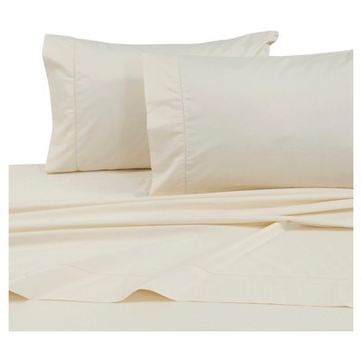 Cotton Sateen Deep Pocket Sheet Set (King) Ivory 750 Thread Count - Tribeca Living