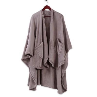 Plush Wrap Blanket Beige - Better Living