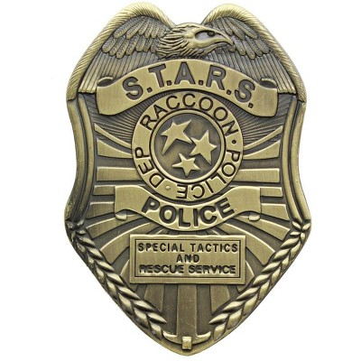 Nerd Block Resident Evil S.T.A.R.S. Diecast Badge Replica