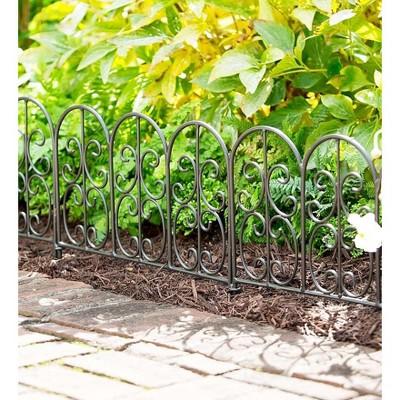 Plow & Hearth - Montebello Iron Garden Edging - Perfect for Garden Beds, Borders & Paths