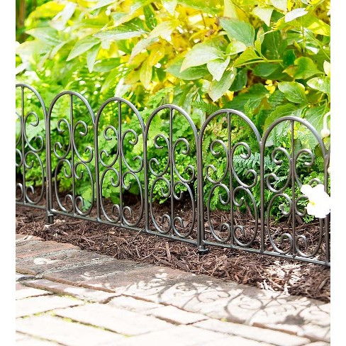 Plow & Hearth - Montebello Iron Garden Edging - Perfect for Garden Beds, Borders & Paths - image 1 of 2