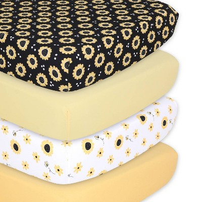 The Peanutshell Fitted Sheets - Sunflower - 4pk