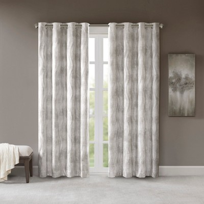 50 x95  Laurent Printed Blackout Jacquard Curtain Gray