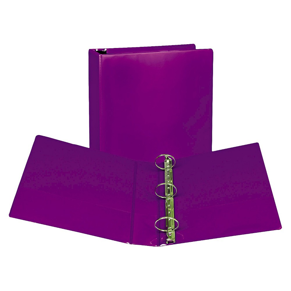 "Image of ""2pk 450 Sheet 2"""" Round Ring Binder Purple - Samsill"""