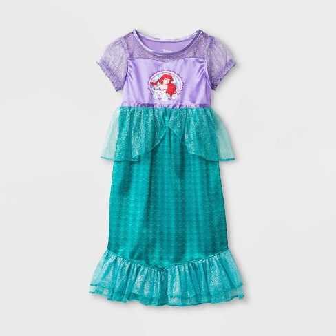 Toddler Girls' Little Mermaid Nightgown - Purple - image 1 of 1