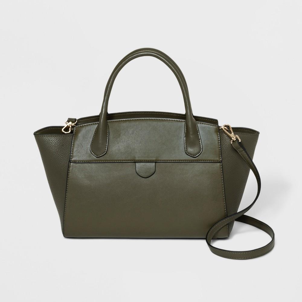 Winged Satchel Handbag- A New Day Olive Green, Women's