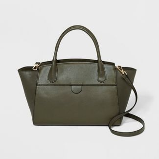 Winged Satchel Handbag- A New Day™ Olive Green