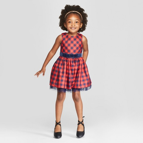 784167e8237b1 Toddler Girls' Sleeveless A-Line Dress - Cat & Jack™ Red 5T : Target