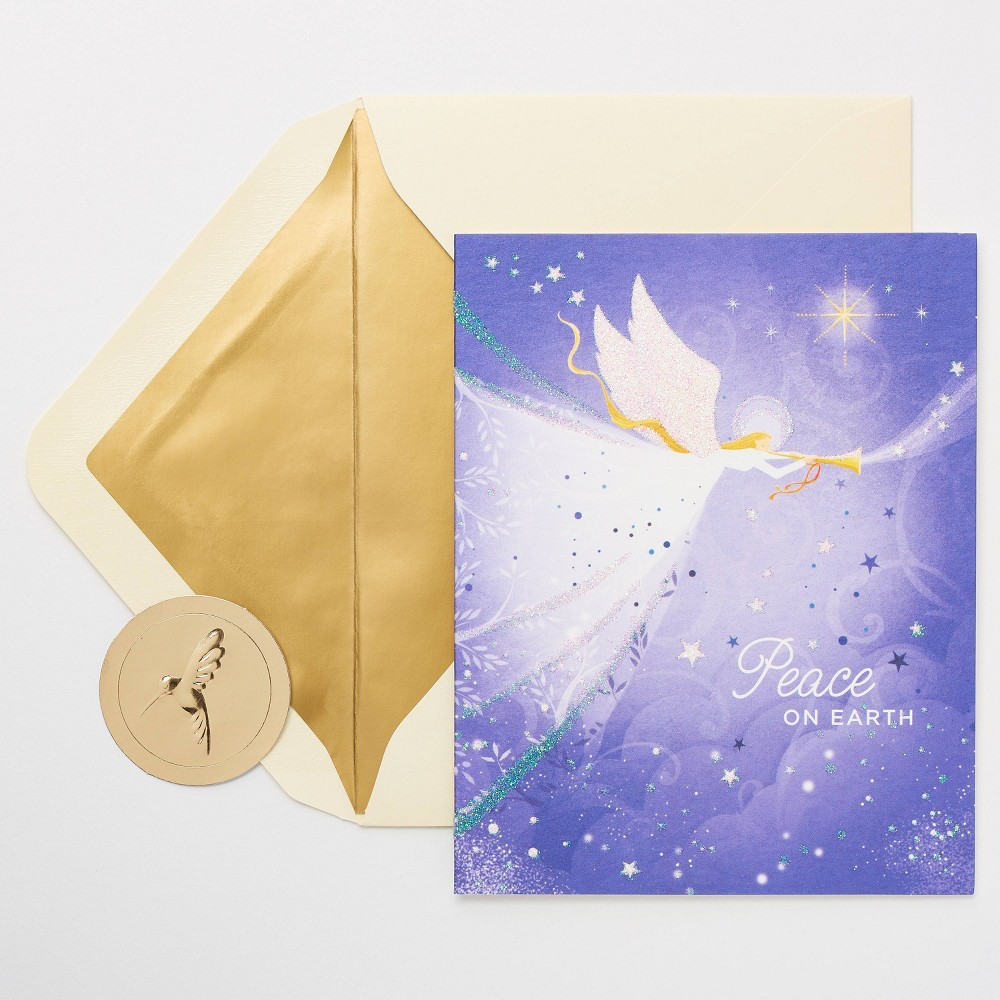 Image of 10ct Papyrus Peace on Earth Angel Christmas Greeting Cards