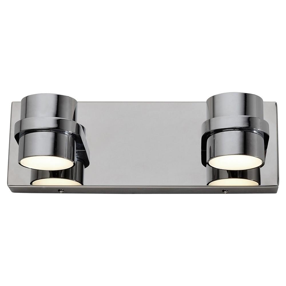 Twocan 4-Light Led Bath Light - Polished Chrome - Rogue Décor, Medium Clear