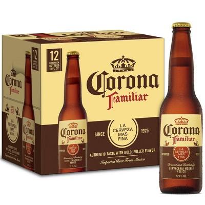 Corona Familiar Lager Beer - 12pk/12 fl oz Bottles