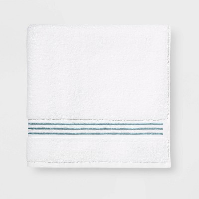 Spa Bath Towel Aqua Stripe - Threshold Signature™