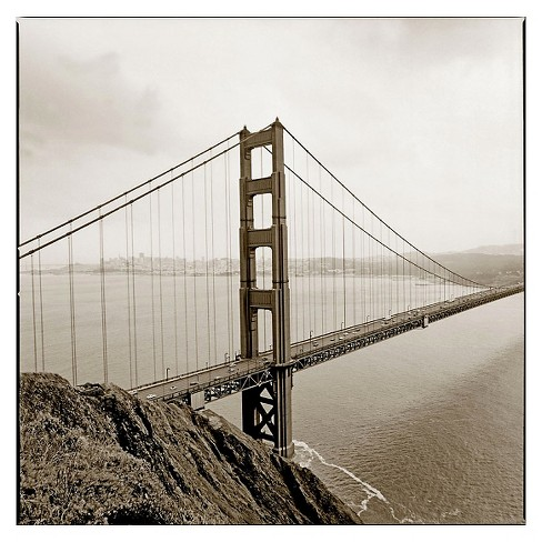 Golden Gate\' by PrestonReady to Hang Canvas Wall Art : Target