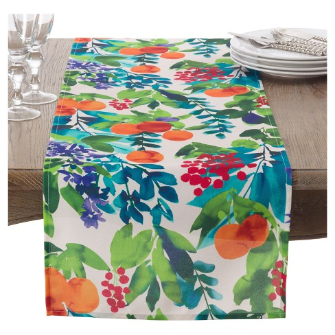 "Orchard Fruit Table Runner (16""x72"") - Saro Lifestyle® - image 1 of 1"