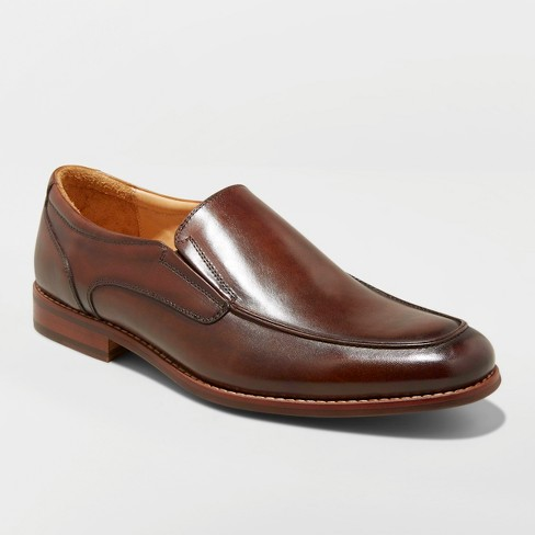 Men's Perry Leather Loafer Dress Shoes - Goodfellow & Co™ Brown - image 1 of 3