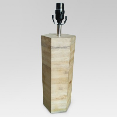 Modern Wood Large Lamp Base Natural Wood Includes Energy Efficient Light Bulb - Threshold™