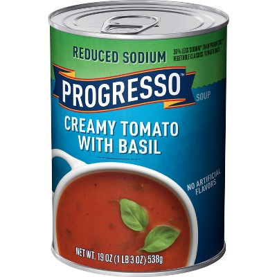 Progresso High Fiber Creamy Tomato Basil Soup 19oz