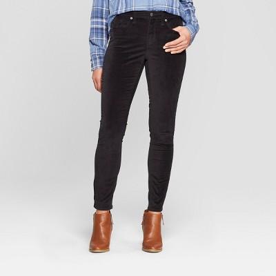 466833a2af1b Womens High-Rise Velvet Skinny Jeans – Universal Thread™ Black 14 ...