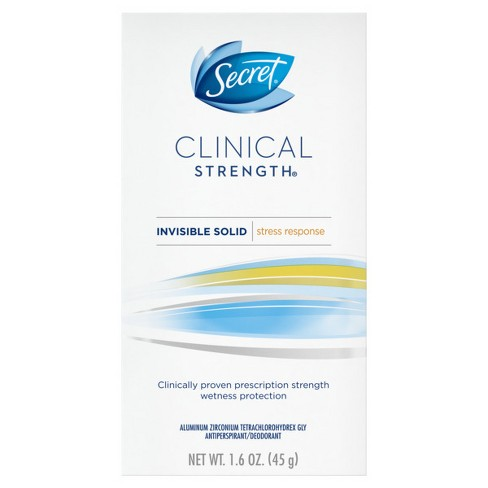 Secret Clinical Strength Stress Response Invisible Solid Antiperspirant and Deodorant - 1.6oz - image 1 of 2
