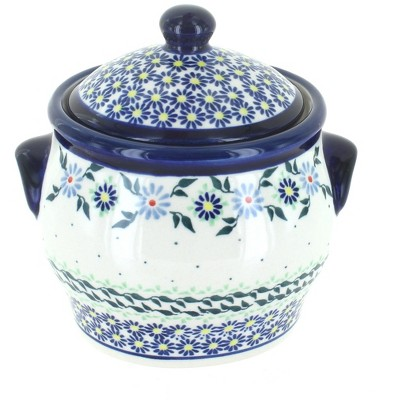 Blue Rose Polish Pottery Petite Bouquet Small Canister