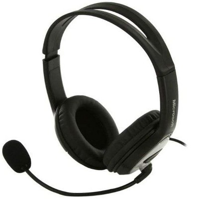 Microsoft LifeChat LX-3000 Digital USB Stereo Headset Noise-Canceling Microphone - Premium Stereo Sound - USB 2.0 - Leatherette Ear Pads - 6 ft Cable