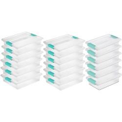 Sterilite Large Clip Storage Box Container (12 Pack) + Small Clip Box (6 Pack)