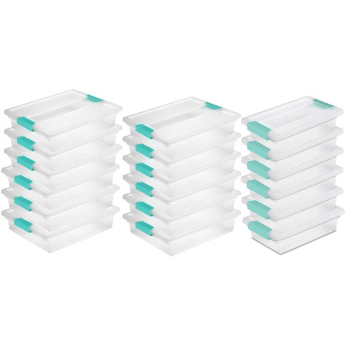 Clip Storage Box Container 12 Pack