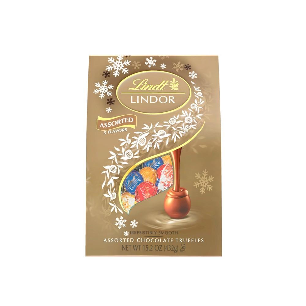 LINDT Lindor Christmas Assorted Chocolate Bag - 15.2oz