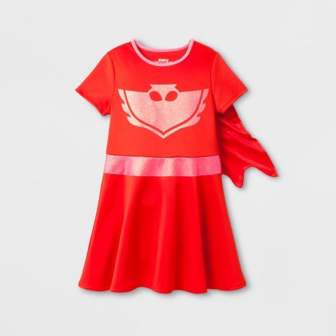 16a6bc527 Girls' PJ Masks Owlette Costume Dress - Hot Pink M : Target