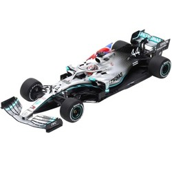 "Mercedes AMG F1 W10 EQ Power+ #44 Lewis Hamilton (with Flag) ""Petronas Motorsports"" Winner Formula One F1 British GP (2019) 1/18 Model Car by Spark"