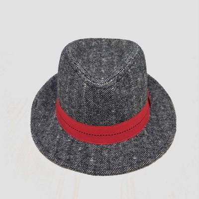 Baby Boys' Herringbone Fedora Striped Hat - Cat & Jack™ 6-12M