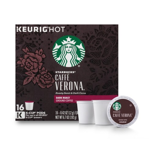 Starbucks Coffee Caffè Verona Dark Roast Coffee - Keurig K-Cup Pods - 16ct - image 1 of 5