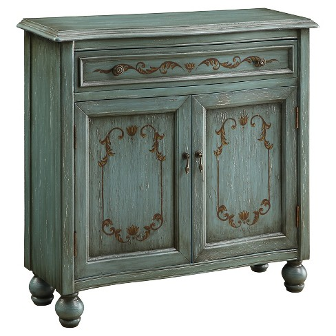 Dearington Traditional Cabinet - Teal - Christopher Knight Home - image 1 of 2