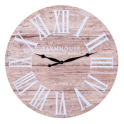 30  Frameless Rustic Wood Plank Wall Clock Wood - Patton Wall Decor