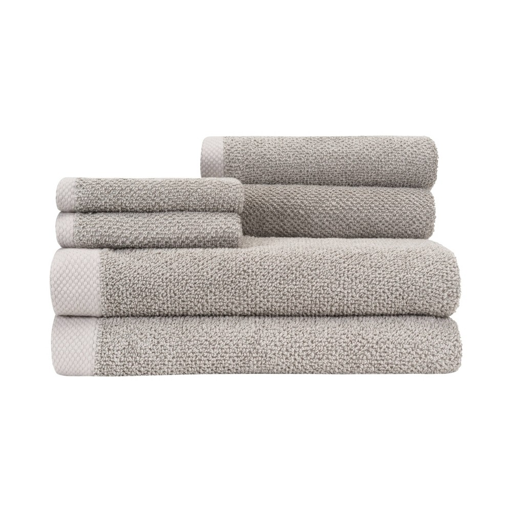 Image of 6pc Adele Towel Set Gray - Caro Home