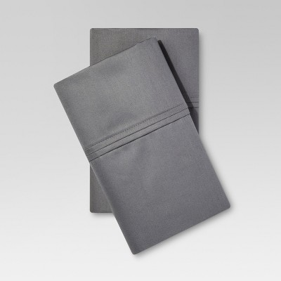 Performance Solid Pillowcase (Standard)Dark Gray 400 Thread Count - Threshold™
