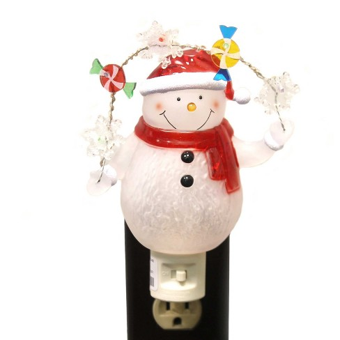 "Roman 7.0"" Snowman/Snowflakes Night-Light Electric Candy - image 1 of 2"