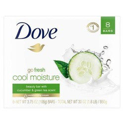 Dove Cool Moisture Beauty Bar Cucumber & Green Tea - 3.75oz/8ct