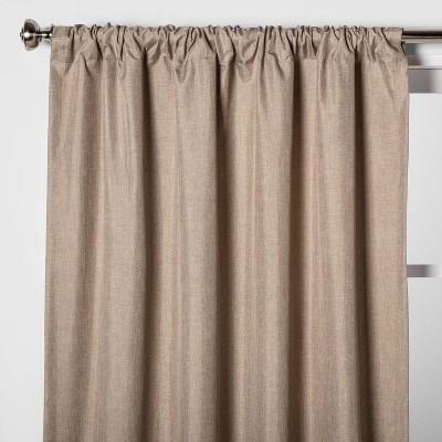 "84""x42"" Heathered Thermal Room Darkening Curtain Panel Tan - Room Essentials™"