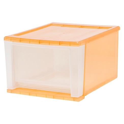 IRIS 17 Qt Stacking Drawer, Sunkissed - 4 Pack - image 1 of 3