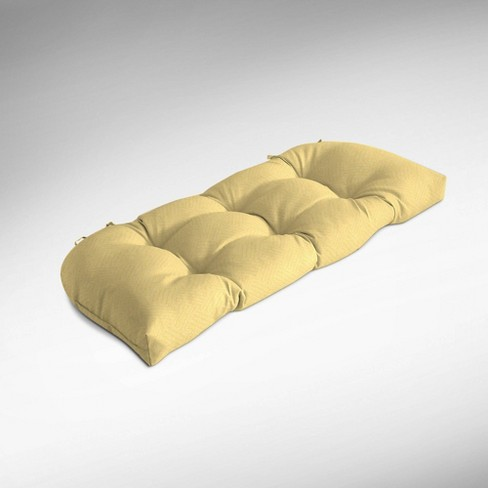 Shirt Texture Wicker Settee Cushion Yellow - Arden Selections - image 1 of 2